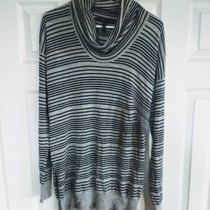 BCBGmaxazaria wool striped cowl neck tunic